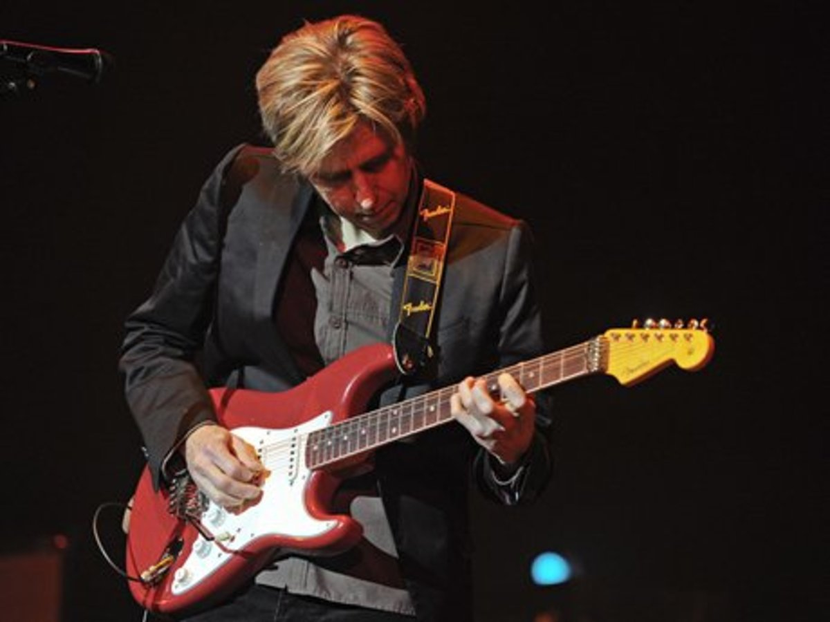 The great Eric Johnson with one of his Fender Stratocaster guitars