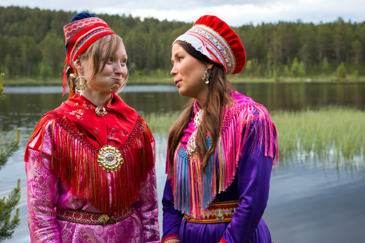 Many of the Sami, sometimes referred to as Laplanders, still wear a traditional dress.