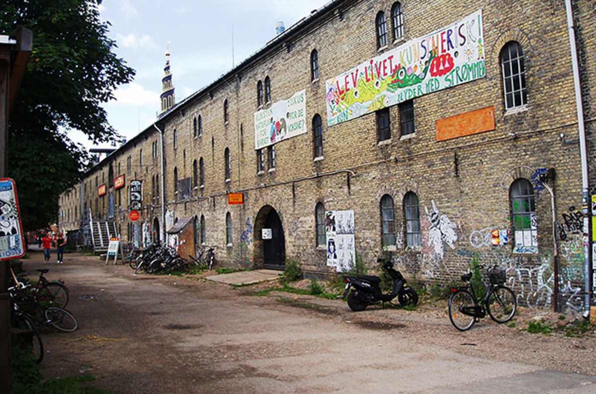 Scandinavia has its fair share of grit and grime, as this building in Christiana, Copenhagen illustrates.