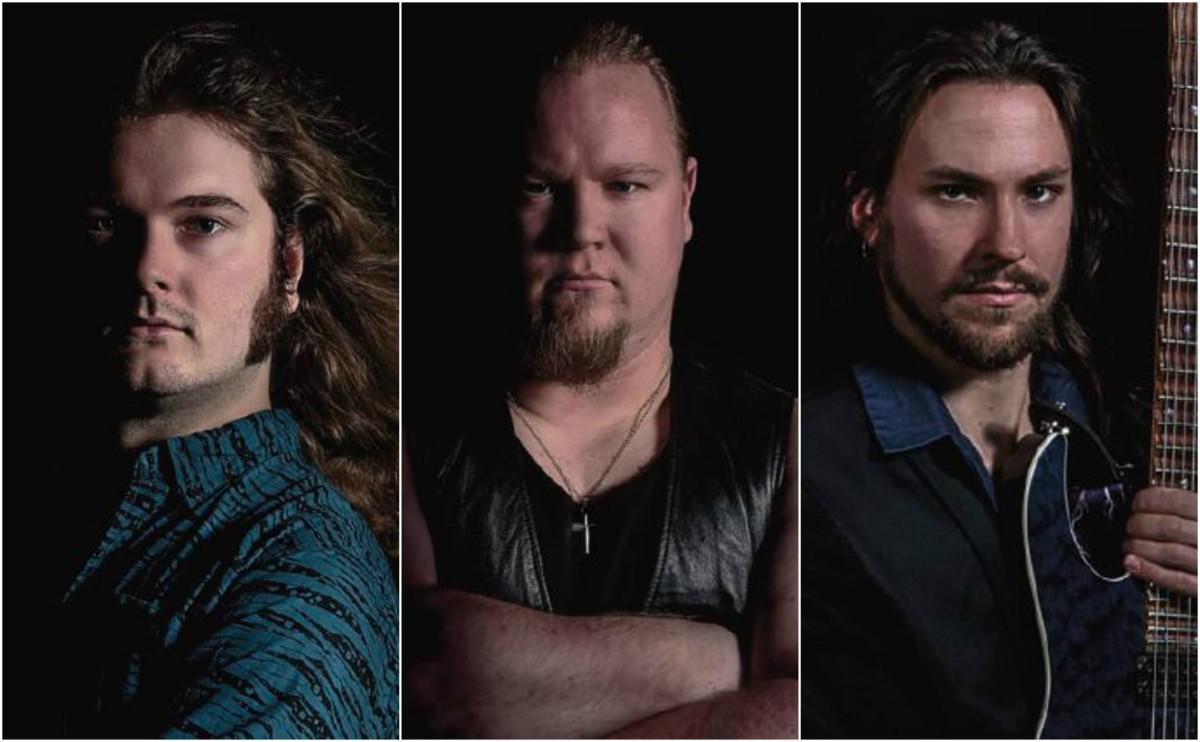 Palantir L-R: Markus Sannefjord Olkerud (vocals), E-Man Lindberg (drums), Fredrik Erixon-Enochson (guitars, bass, keys, orchestration)
