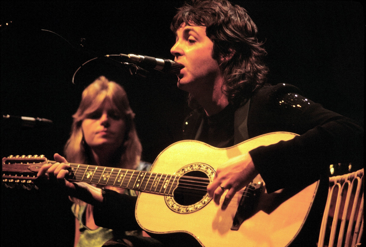 Linda and Paul McCartney were married in 1969 until Linda's death in 1998.  They had hits together in a band called Wings.