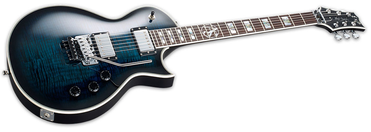 ESP Alex Skolnick signature guitar with Floyd Rose tremolo/vibrato in black aqua sunburst finish