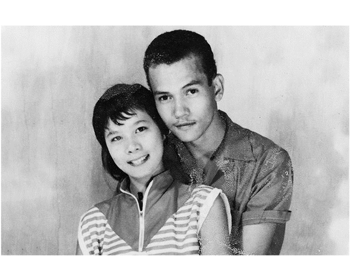 Early photo of Patricia and Vincent Chin