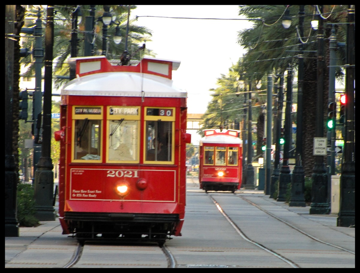 Streetcars (vintage electric rail vehicles) are an inexpensive way to see New Orleans and represent the history and romance of the city.