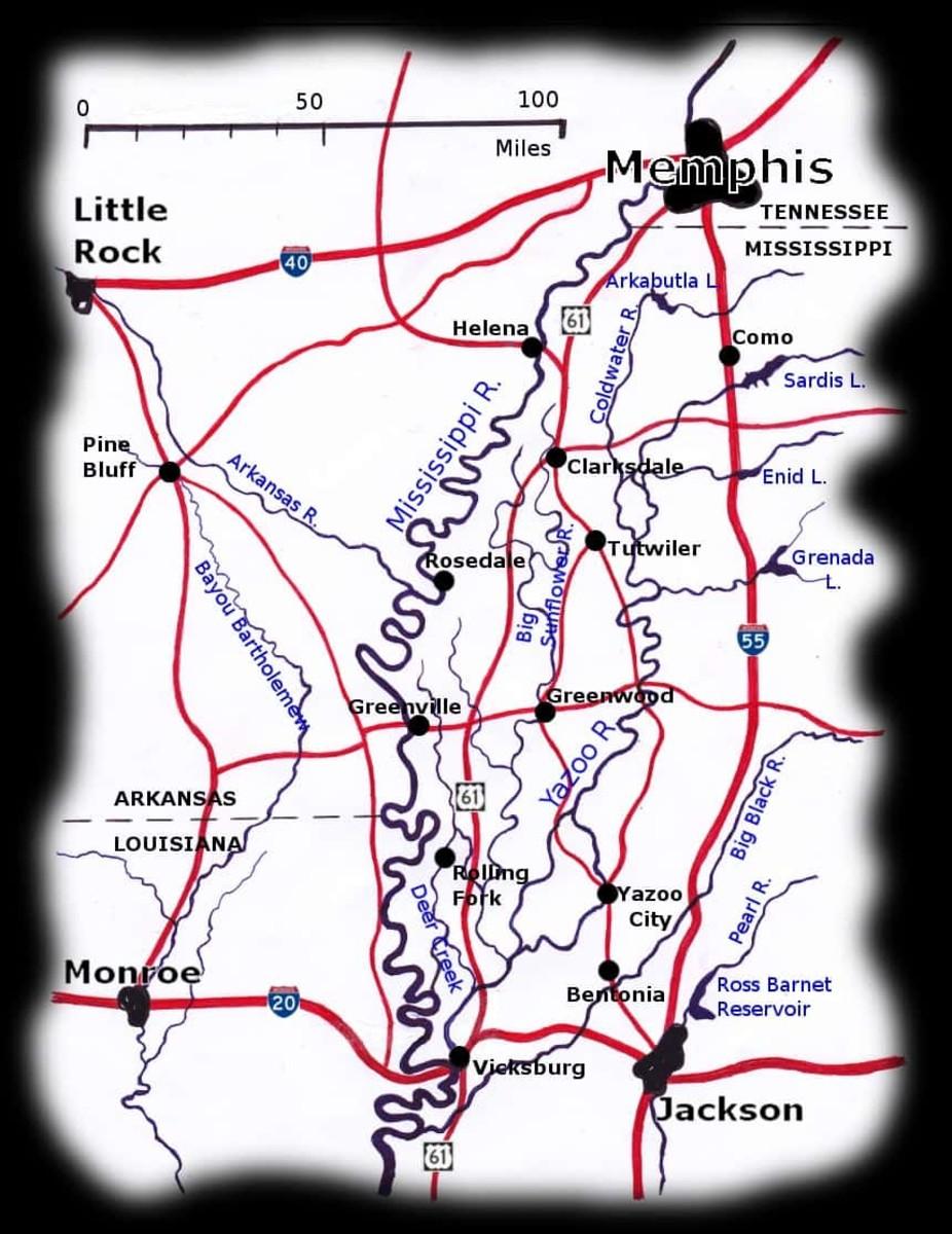 Map of the Delta orgin