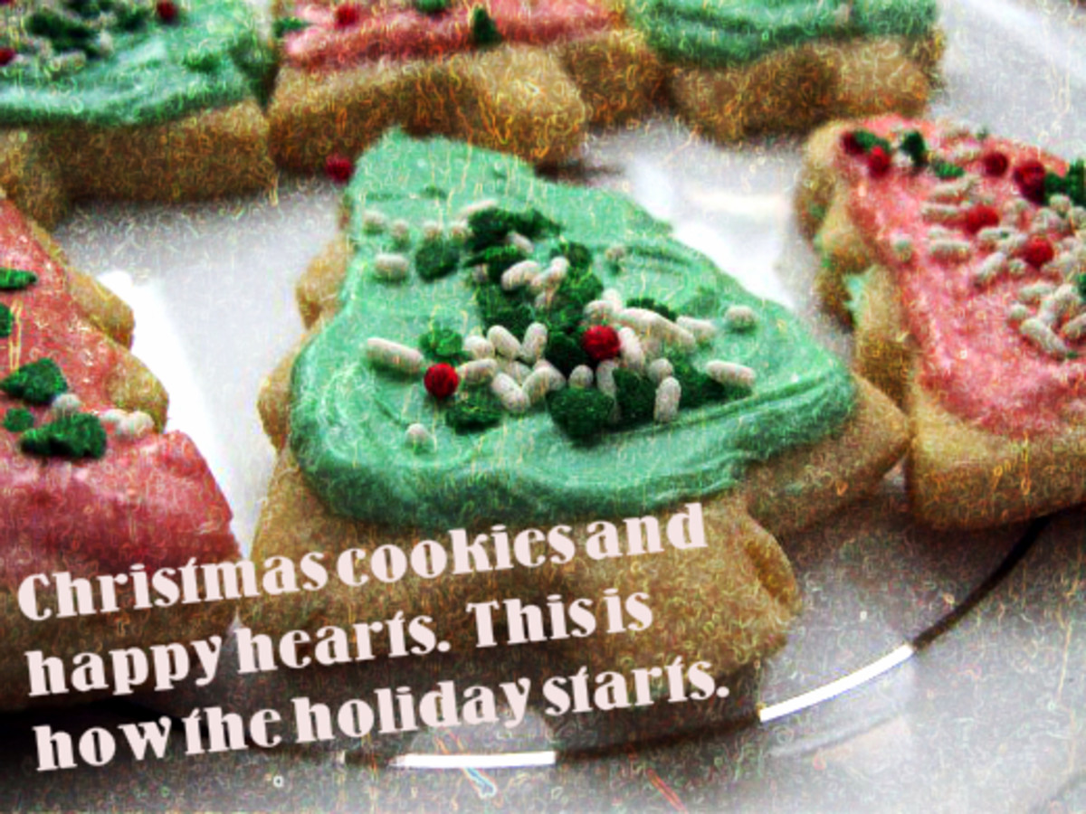 Christmas cookies and happy hearts.  This is how the holiday starts.