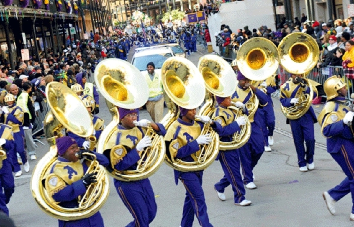 St. Augustine's HS in New Orleans has a popular marching band that participates in many parades