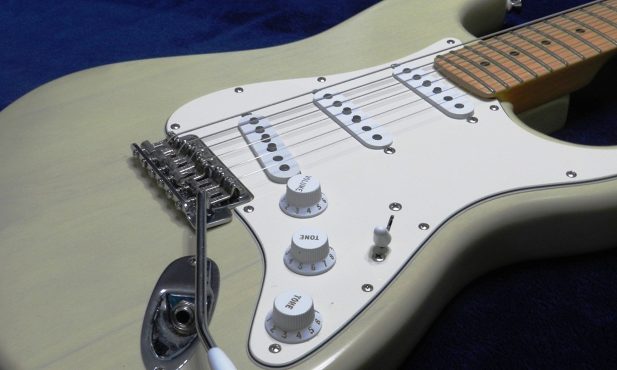 The Fender Stratocaster is one example of a solid-body electric guitar.