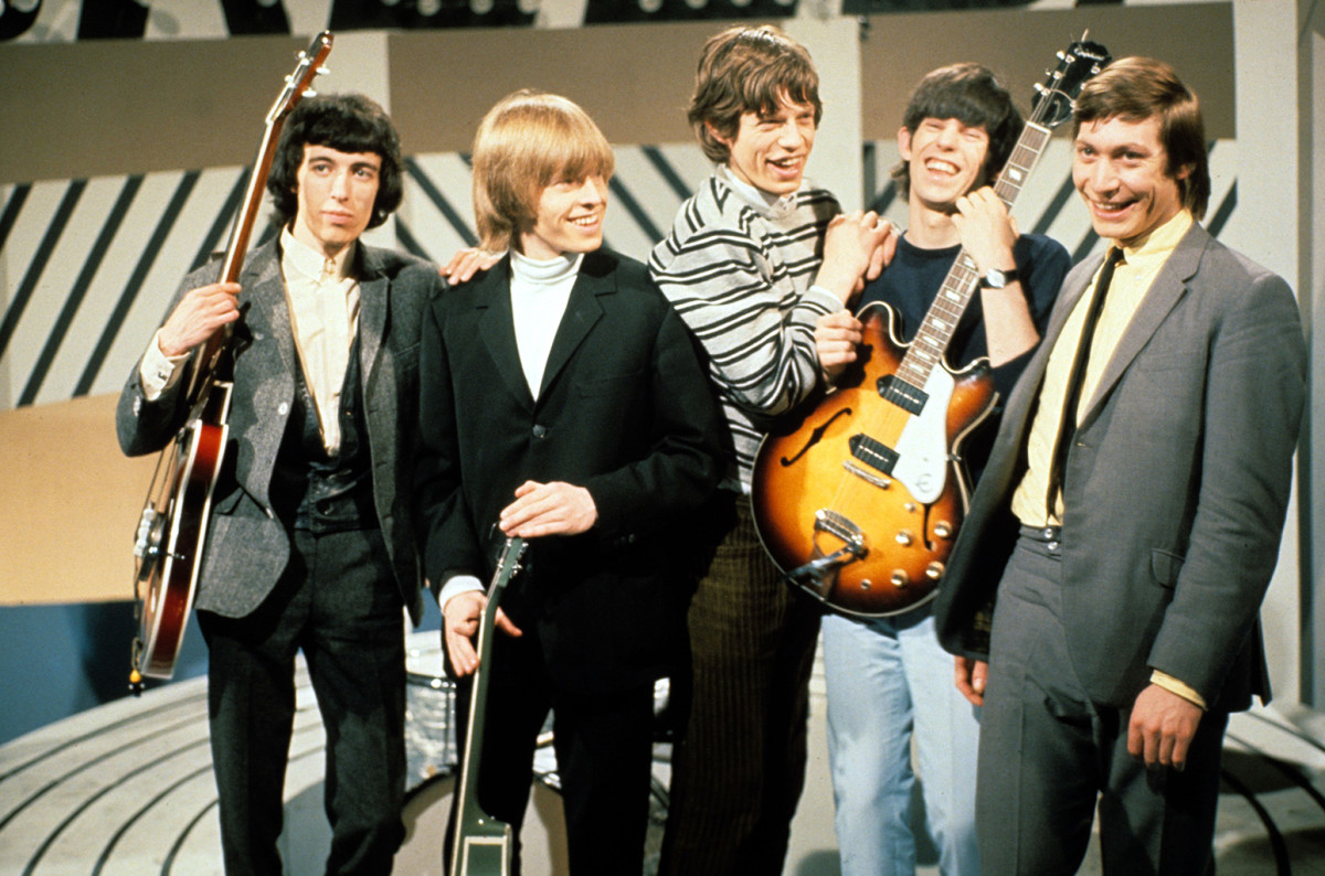 Original lineup of the Rolling Stones