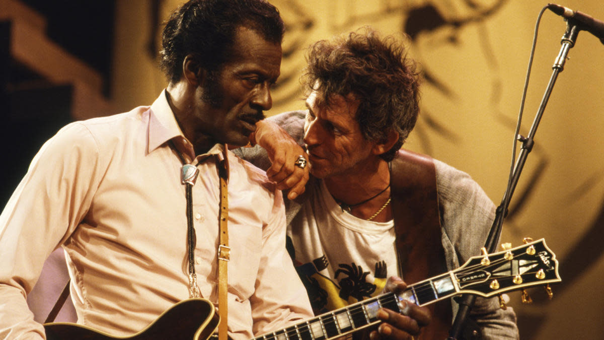 Chuck Berry (left) with Keith Richards