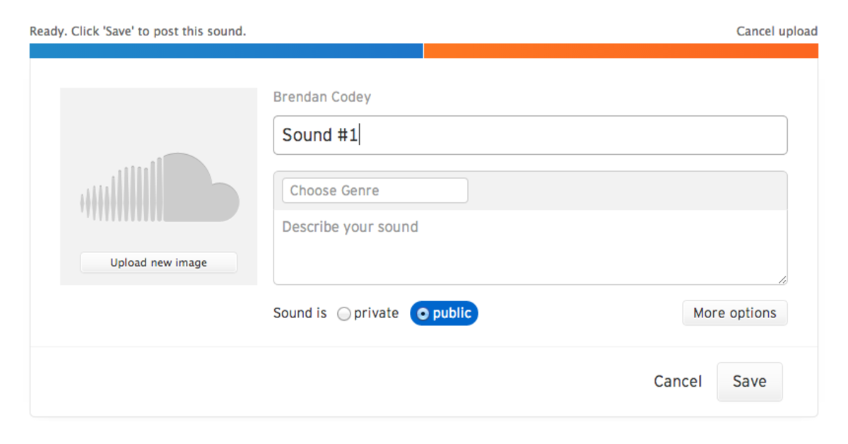 Once you've uploaded your song, there are a number of details to fill out.