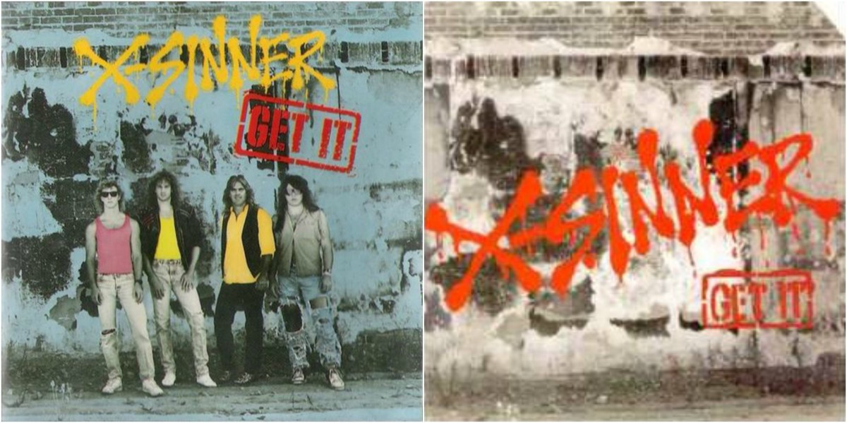 "Left: Pakaderm Records cover for the ""Christian"" market/ Right: A&M Records ""Secular"" market cover"