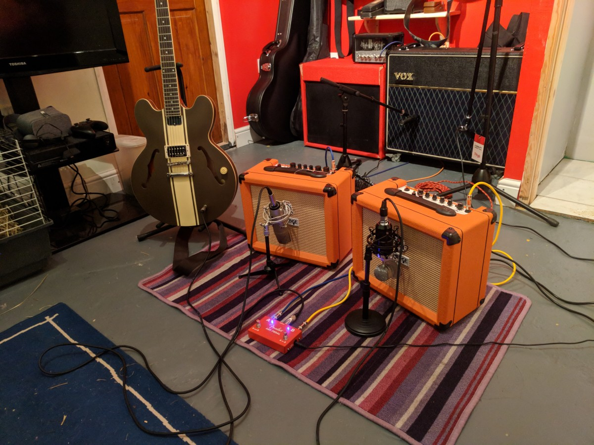 Acoustic treatment isn't all expensive panels and bass traps. The simple act of putting a rug under your amp can make a huge difference.