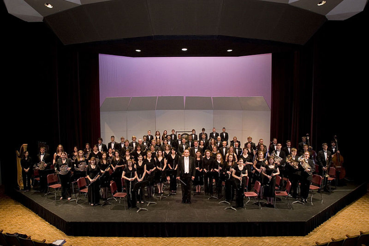 The Texas A&M Wind Symphony is one of two or three bands at this prestigious university.