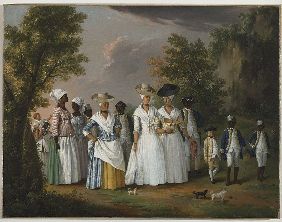 Agostino Brunias, an 18th Italian artist, is the creator for this painting, which is titled Free Women of Color with Their Servants