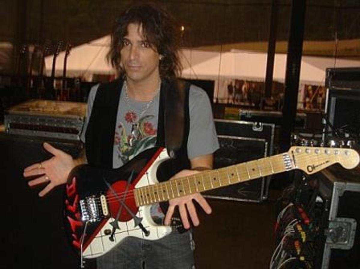 Warren DeMartini with one of his famous Charvel Guitars.