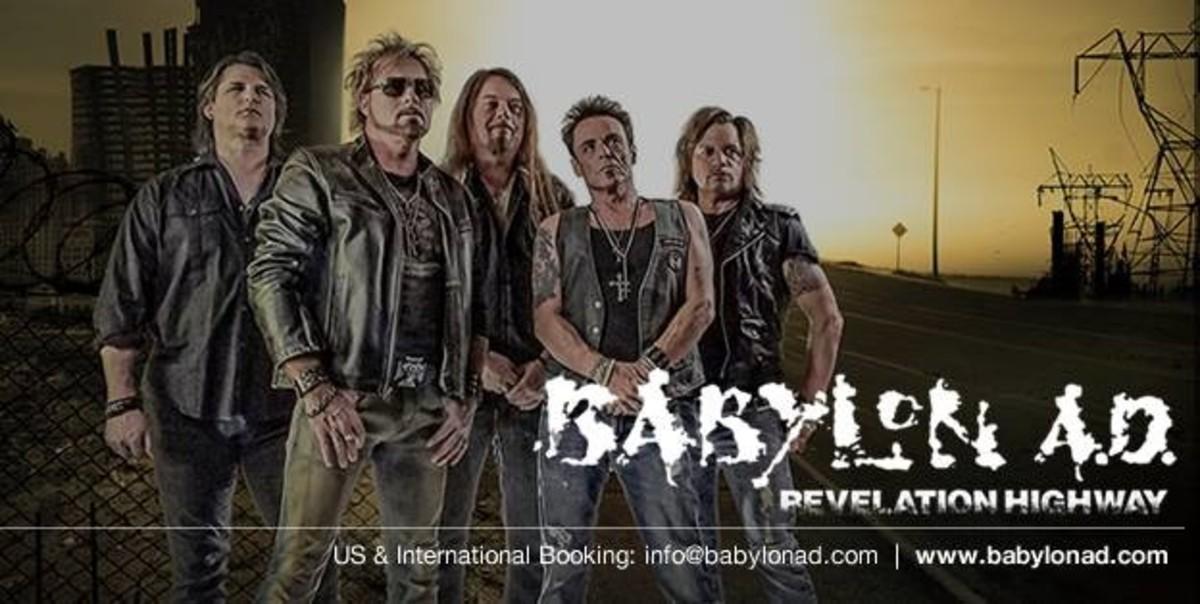 L-R: Ron Freschi (gtr), Derek Davis (vox), John Mathews (gtr), Robb Reid (bass), Jamey Pacheco (drums)
