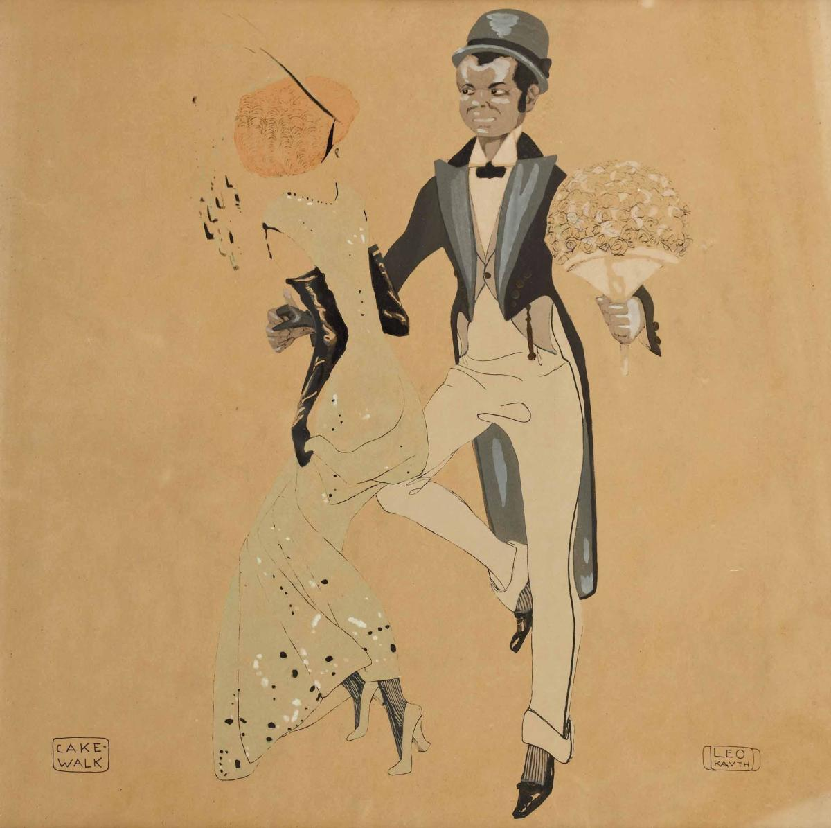 """Cake-Walk"" by Leo Rauth, 1913 - public domain"