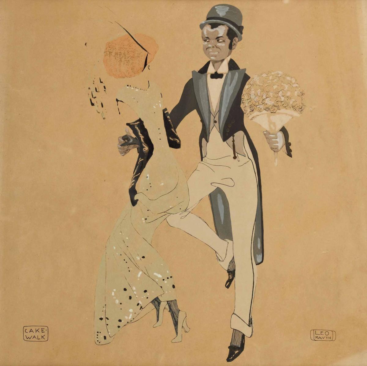 """Cake-Walk"" by Leo Rauth, 1913 - public domain"