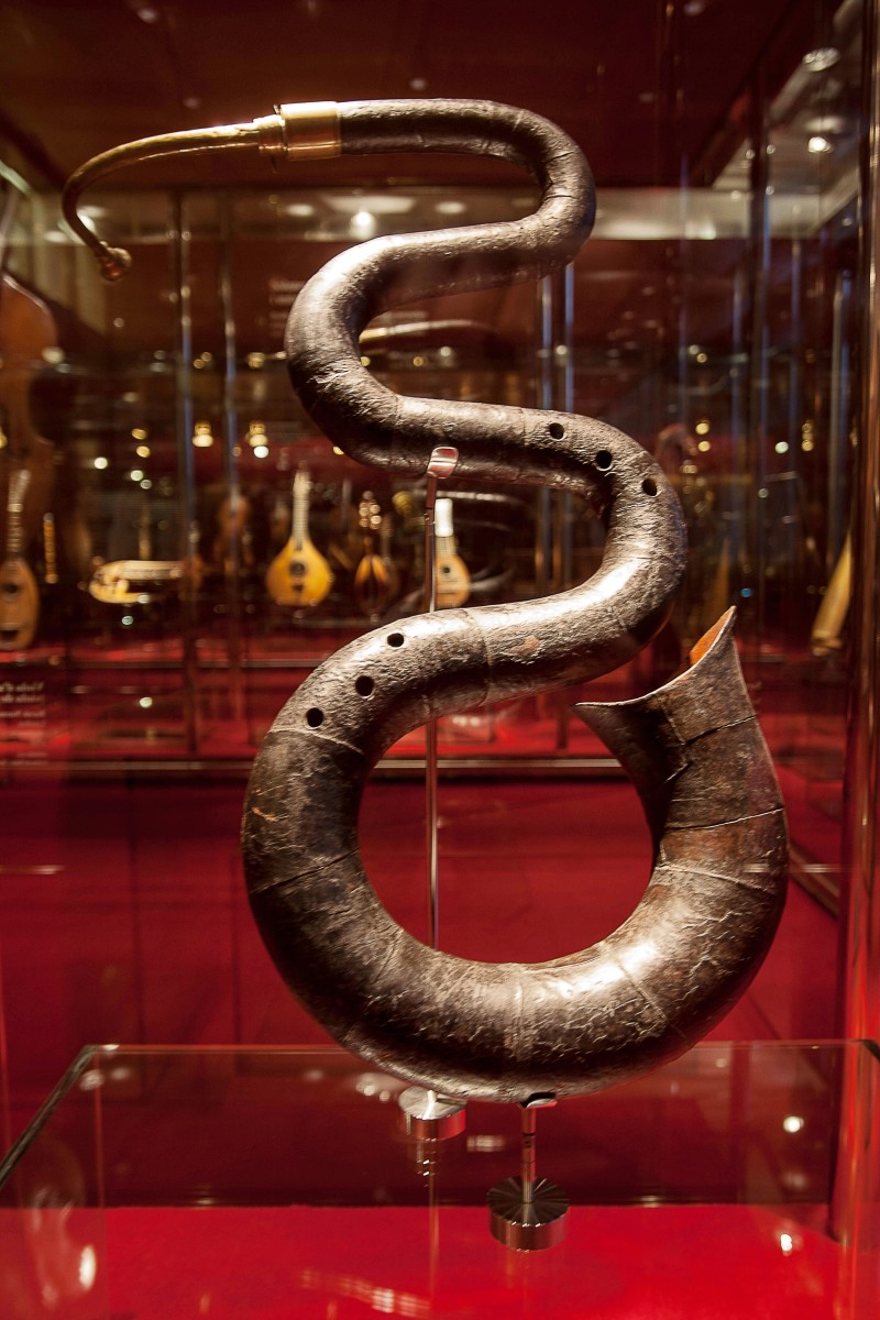 A serpent in the Barcelona music museum