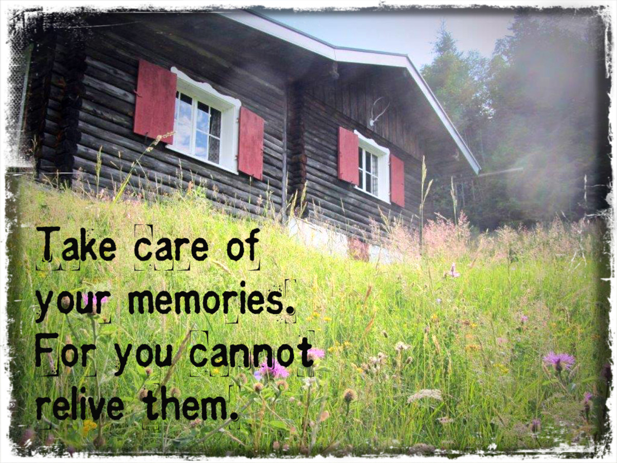 """Take care of your memories.  For you cannot relive them."" - Bob Dylan, American musician"