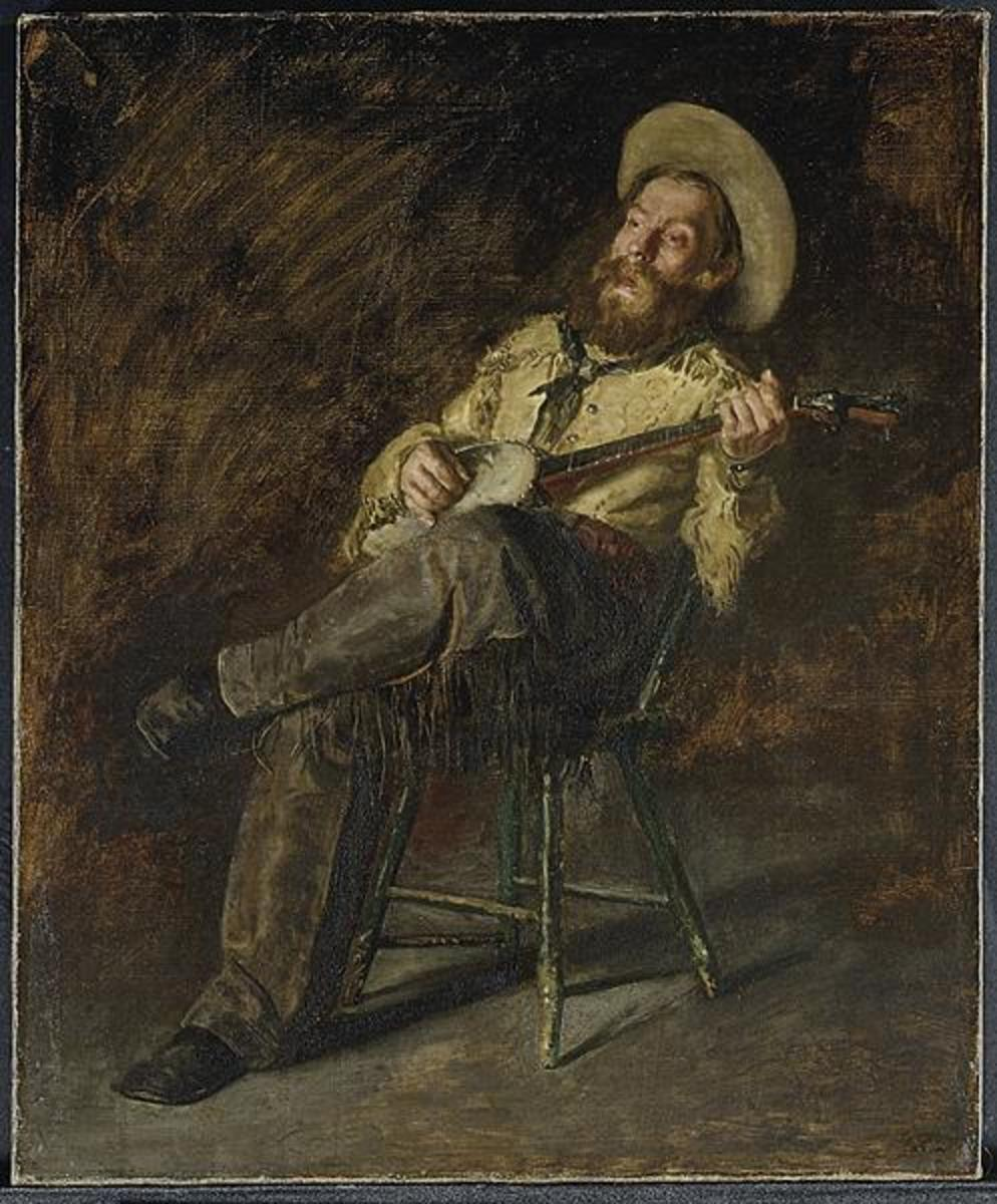 Not all Cowboy singing involved the night guard and night herding, as this Thomas Eakins painting of a bunkhouse strongly suggests.