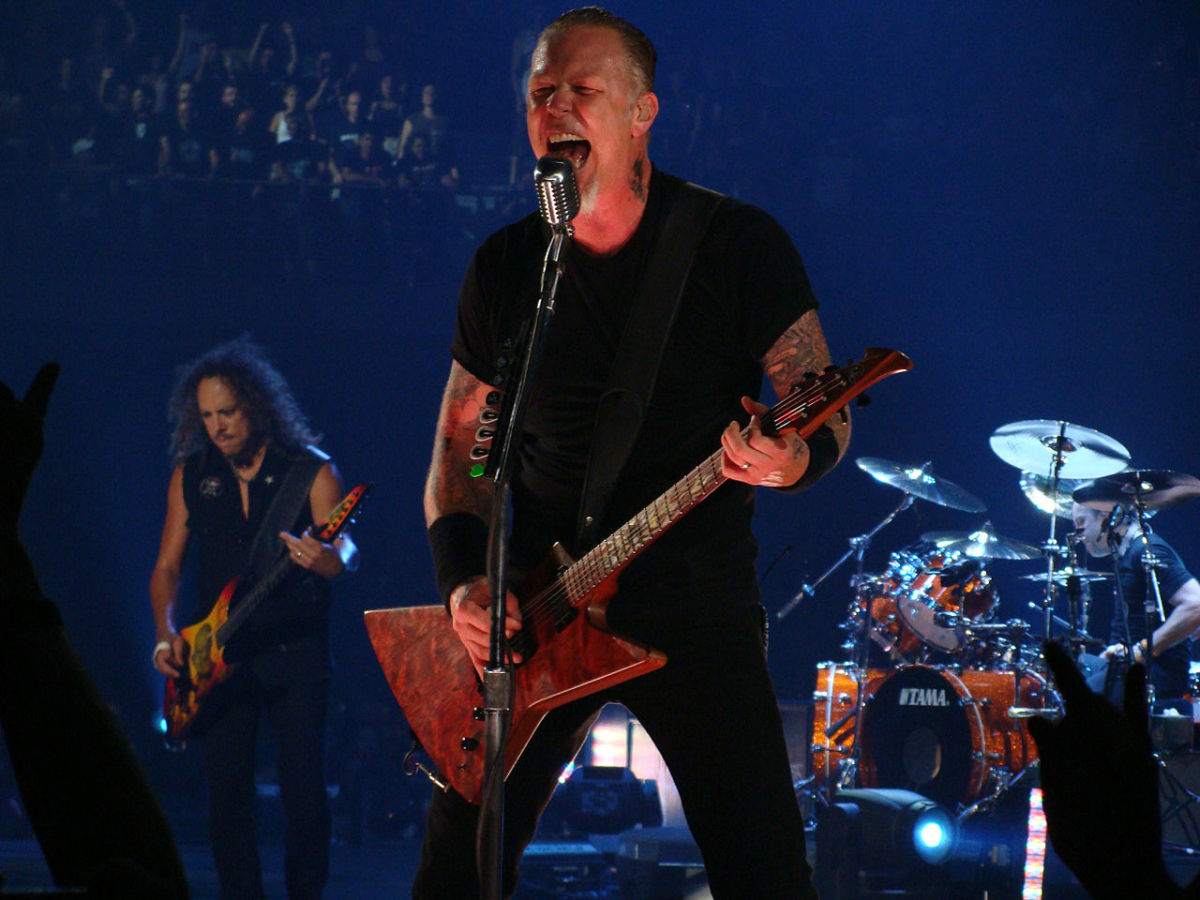 James Hetfield is the rhythm guitarist responsible for Metallica's bone-crushing sound.