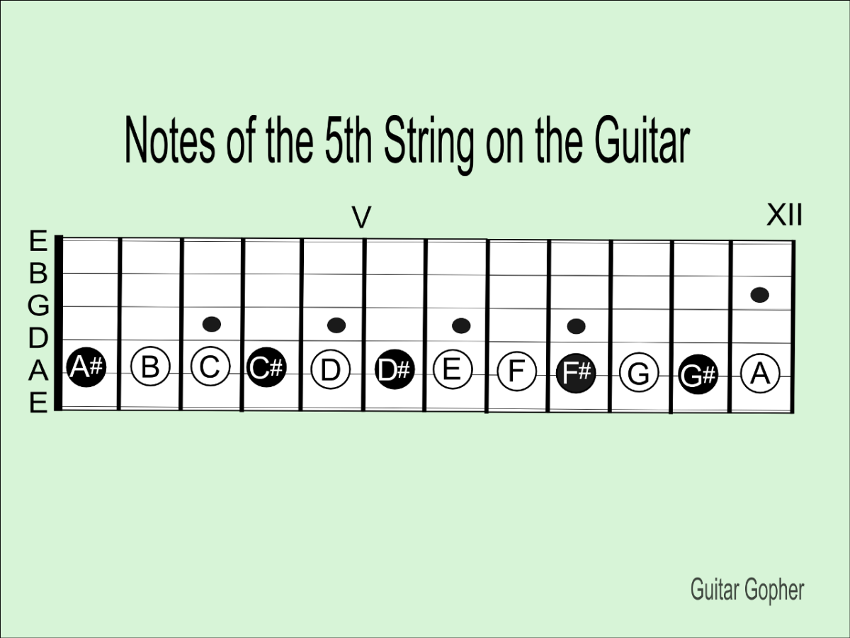 Notes of the 5th String on Guitar