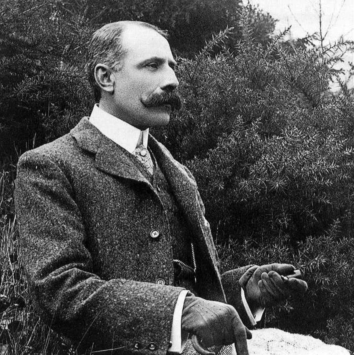 Edward Elgar 1857-1934  Photograph of Elgar in the early 1900s.