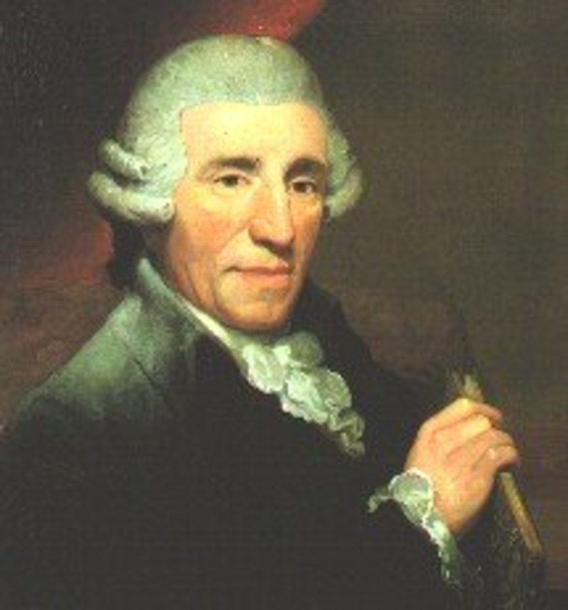 Painting of Haydn, 1791, held in the Royal College of Music Museum of Instruments.
