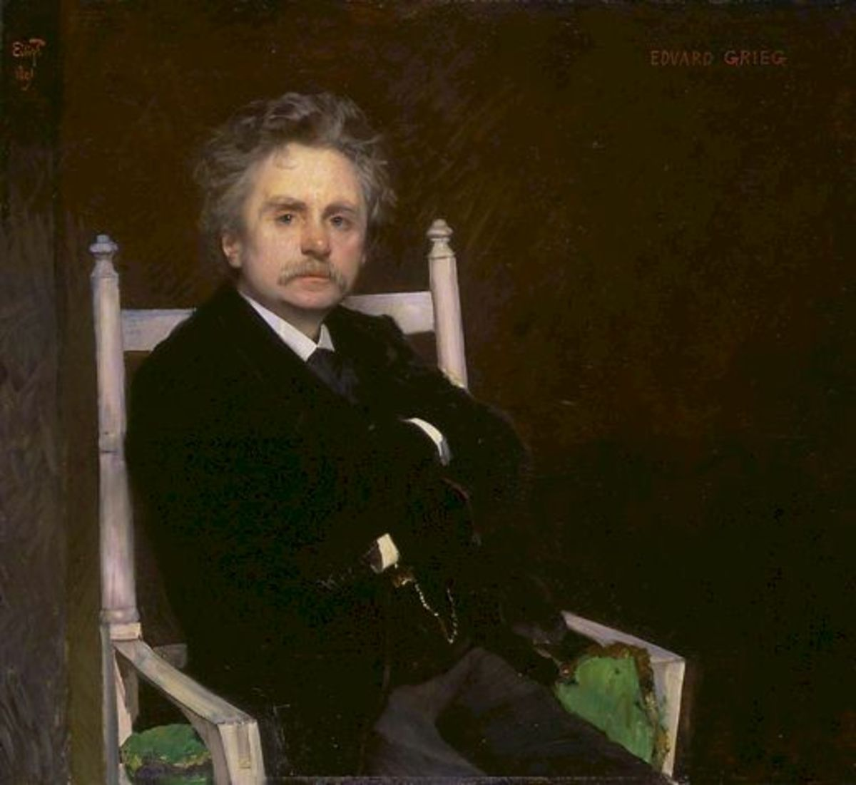 Painting of Grieg, 1891.
