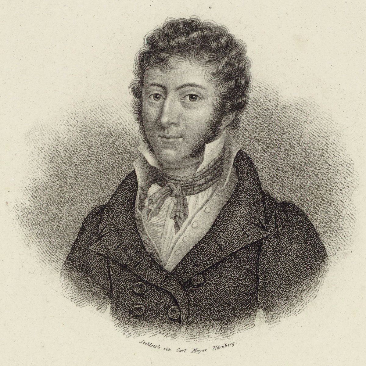 John Field 1782-1837 Sketch of John Field  c1835, held in the archive of Galicia Digital Library.