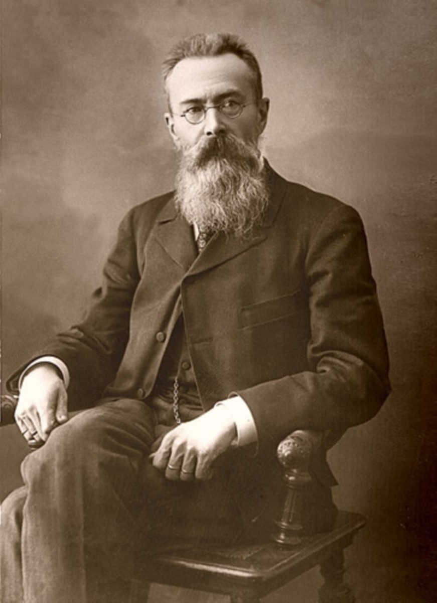 Photograph of Rimsky-Korsakov dated 1897.