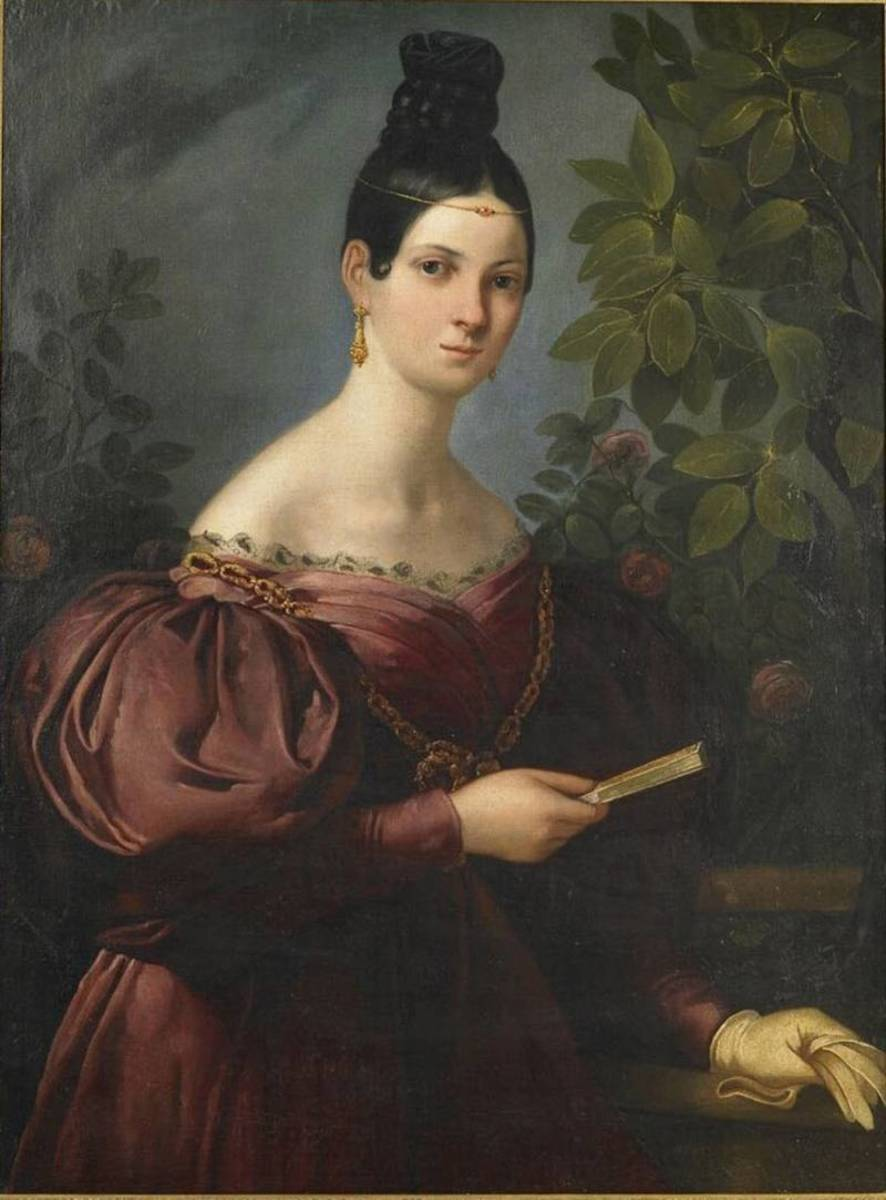 An oil painting of Malibran by an anonymous artist from around 1834.