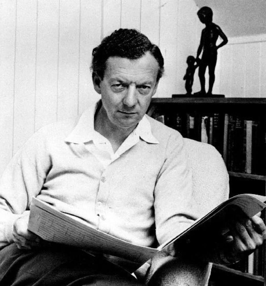 Photgraph of Britten taken in 1968.