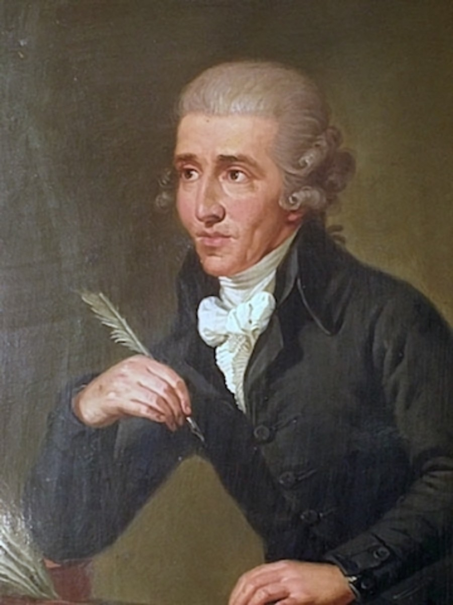 Joseph Haydn 1732-1809. Portrait by Ludwig Guttenbrunn, painted c. 1791–92