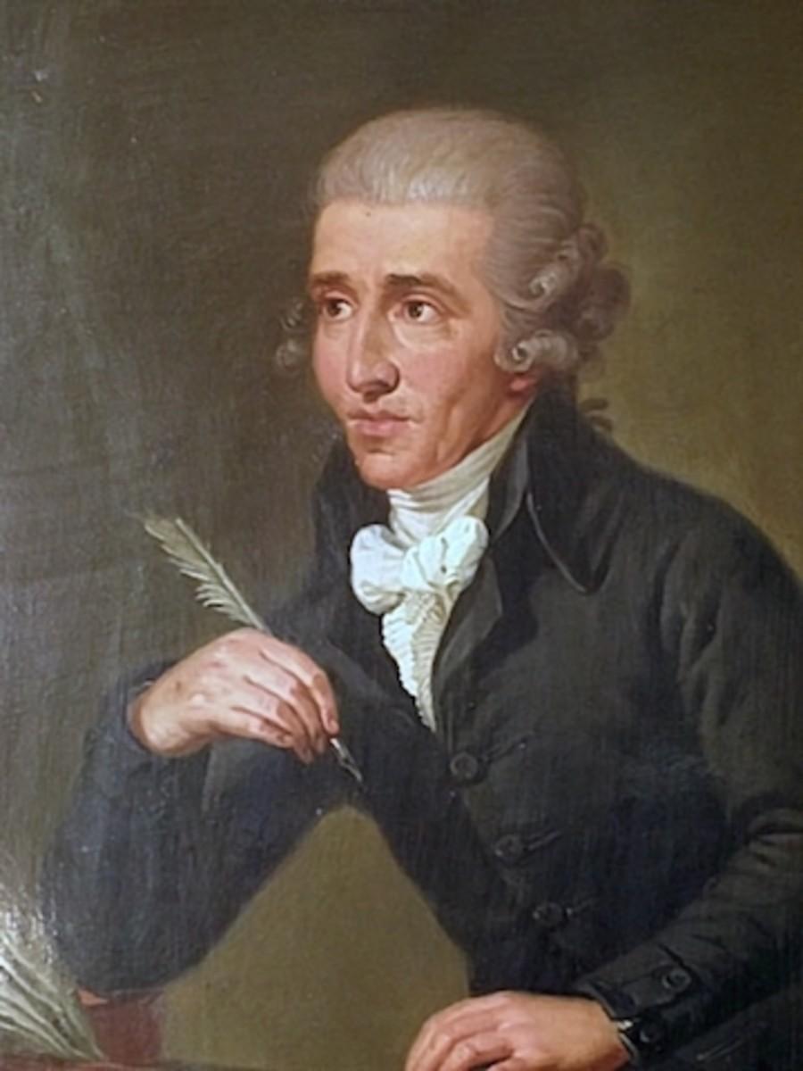 Joseph Haydn 1732-1809. Portrait by Ludwig Guttenbrunn, painted c. 1791–92