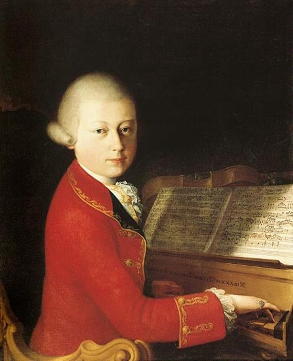 Painting of Mozart while playing at Melk Abbey by Saverio Dalla Rosa.