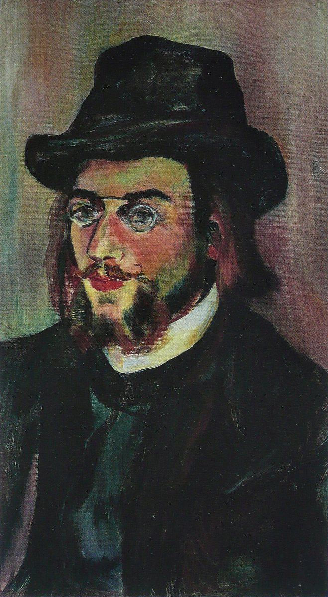 Portrait of Satie by Suzanne Valadon.