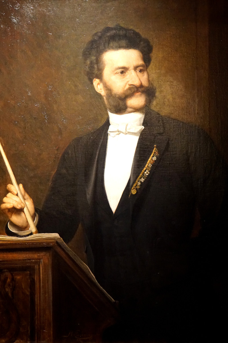 Painting of Johann Strauss the Younger by August Eisenmenger in 1888.
