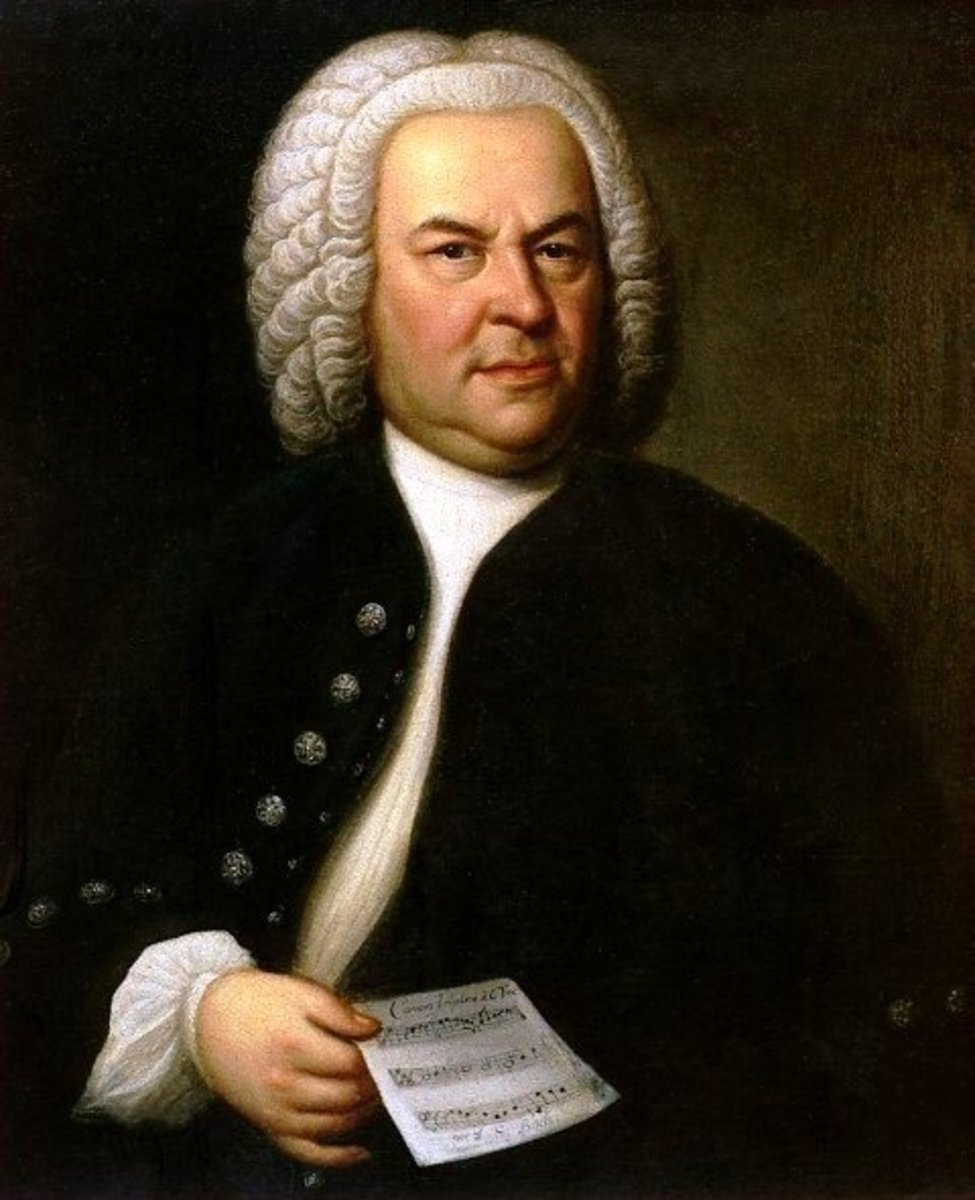 Portrait of Bach aged 61 by Elias Gottlob Haussmann.