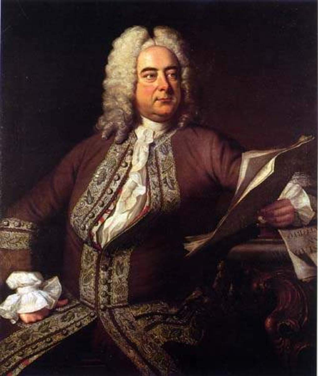 Portrait of Handel by Thomas Hudson in 1741.