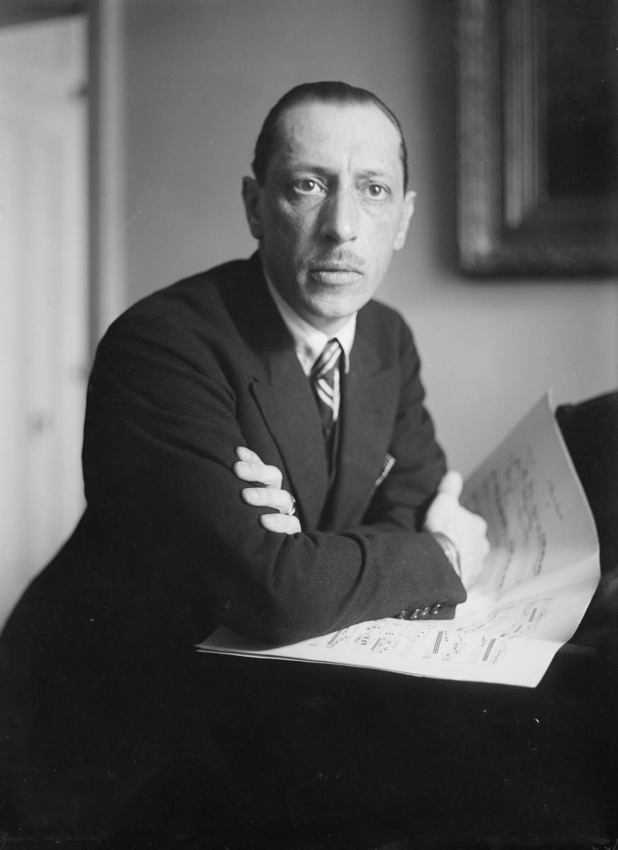 Photograph of Stravinsky between 1920 and 1930.