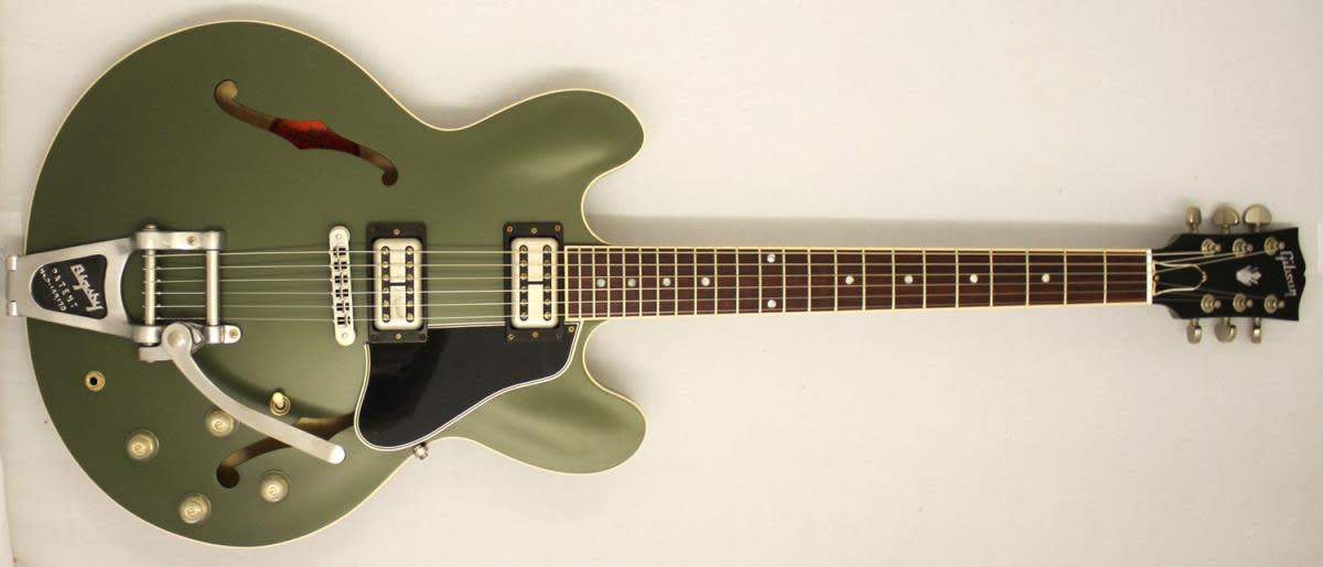 Gibson Chris Cornell ES-335 in olive drab with Bigsby tailpiece