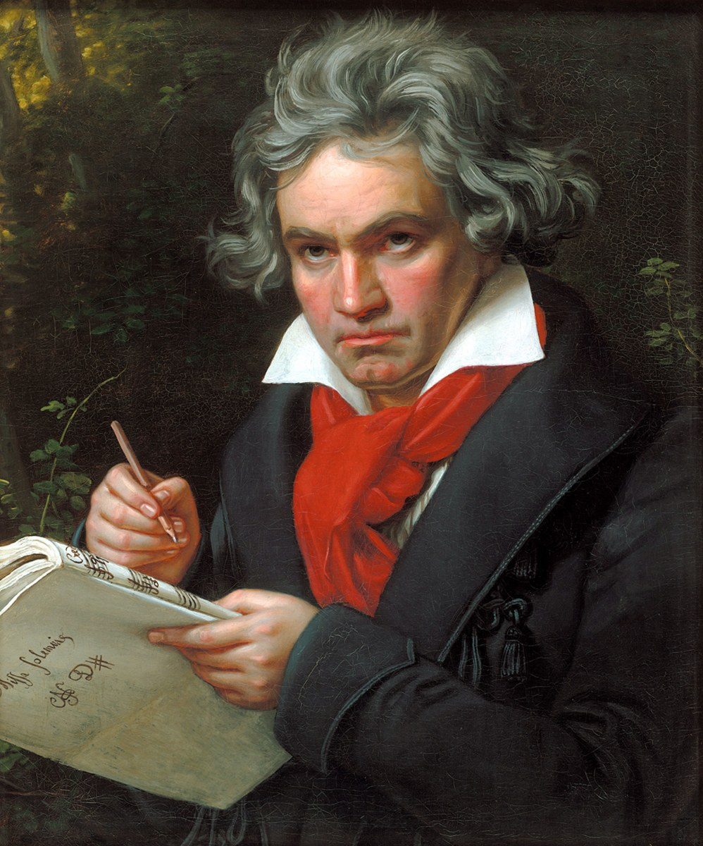 Painting of Beethoven by Karl Stieler c1819.