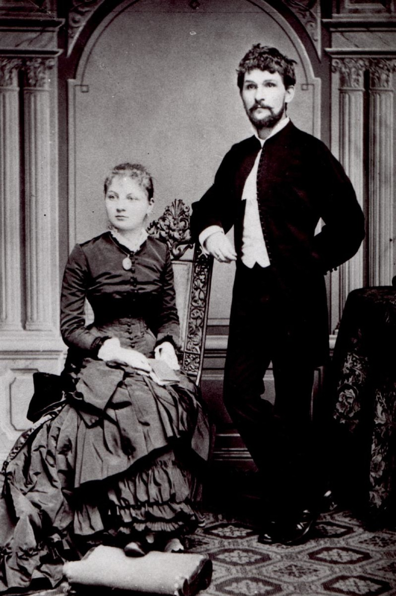 Photograph of Janacek with his wife, dated 1881.