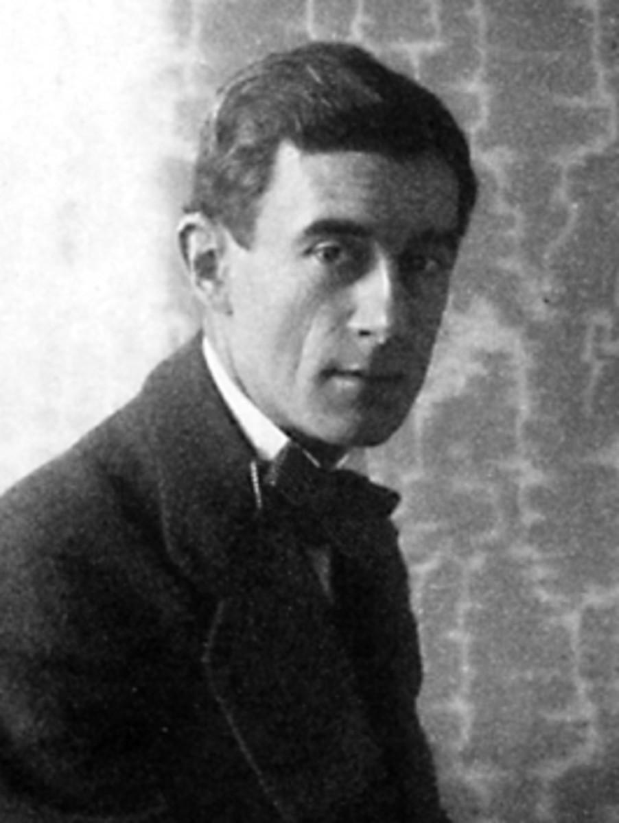Portrait of Ravel in 1912.