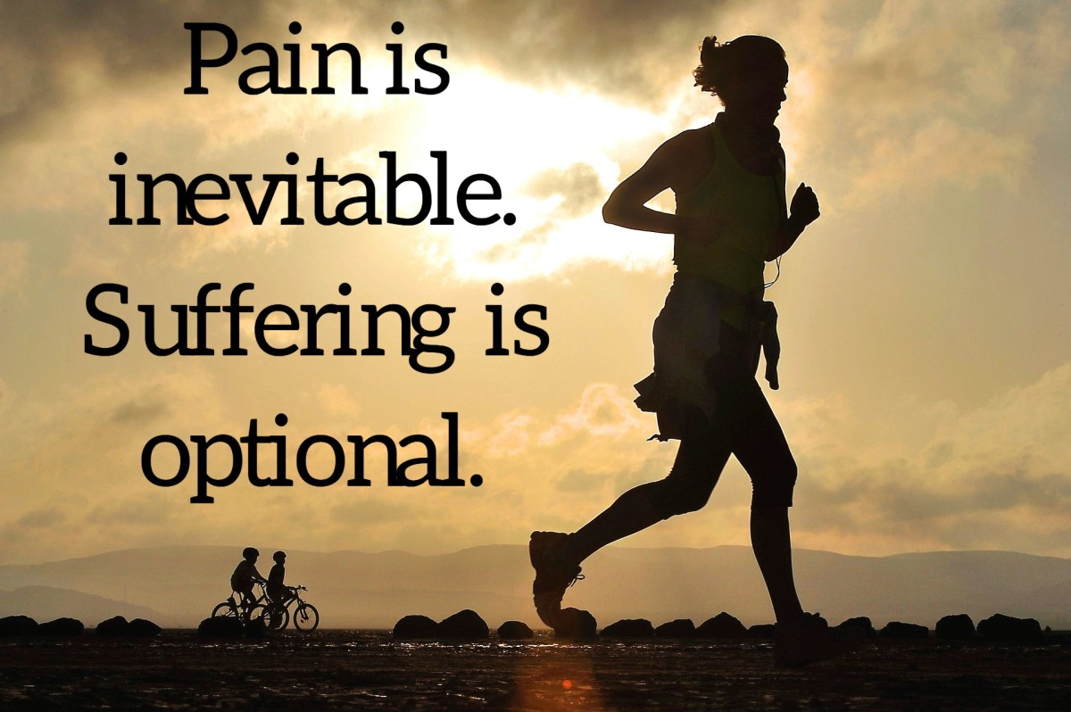 """Pain is inevitable.  Suffering is optional."" - Haruki Murakami, Japanese writer"