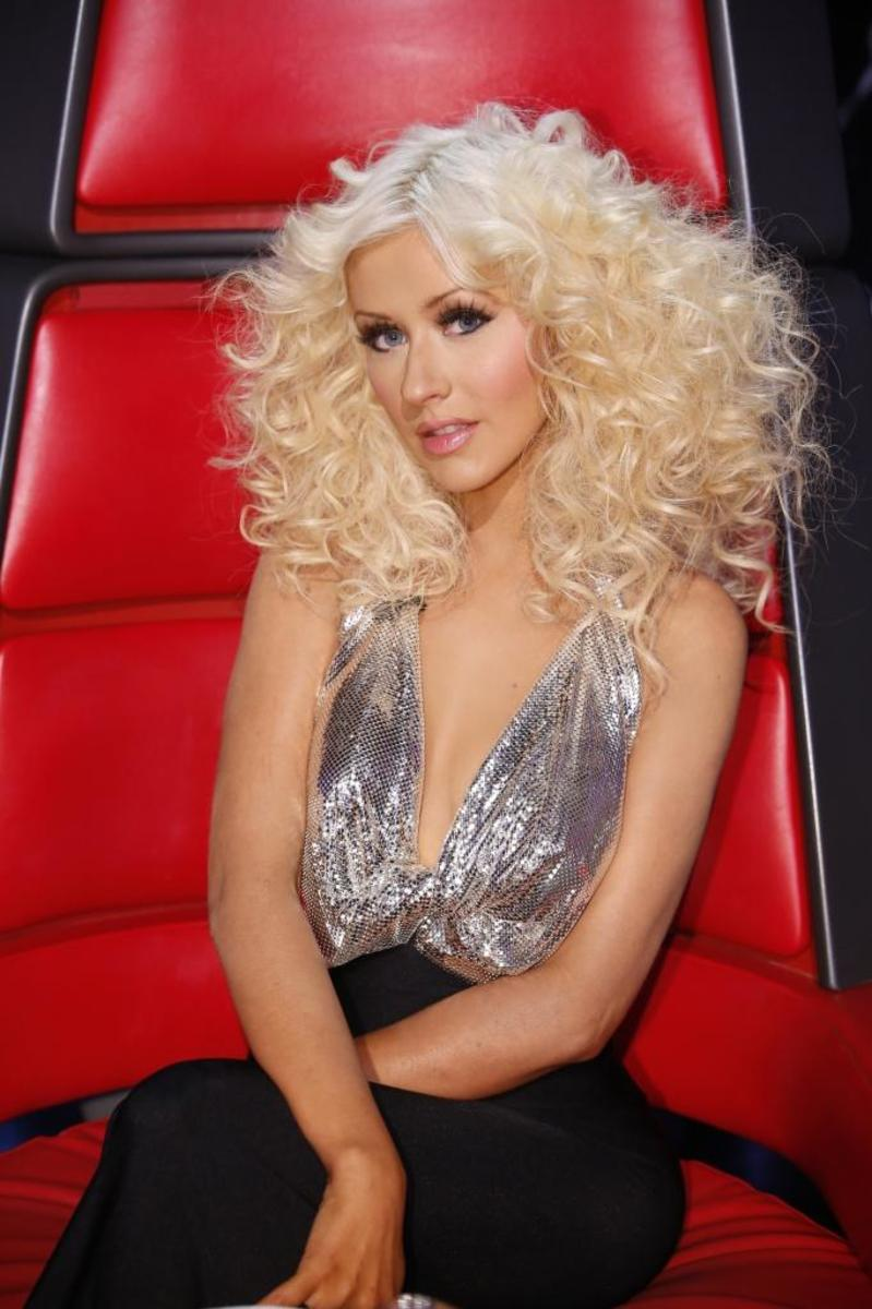 The singer on The Voice, 2014.