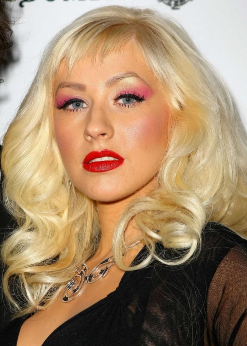 Aguilera in 2009.